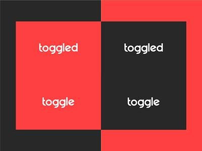 Toggled / Toggle Logo Exploration red and black red logo toggled toggle
