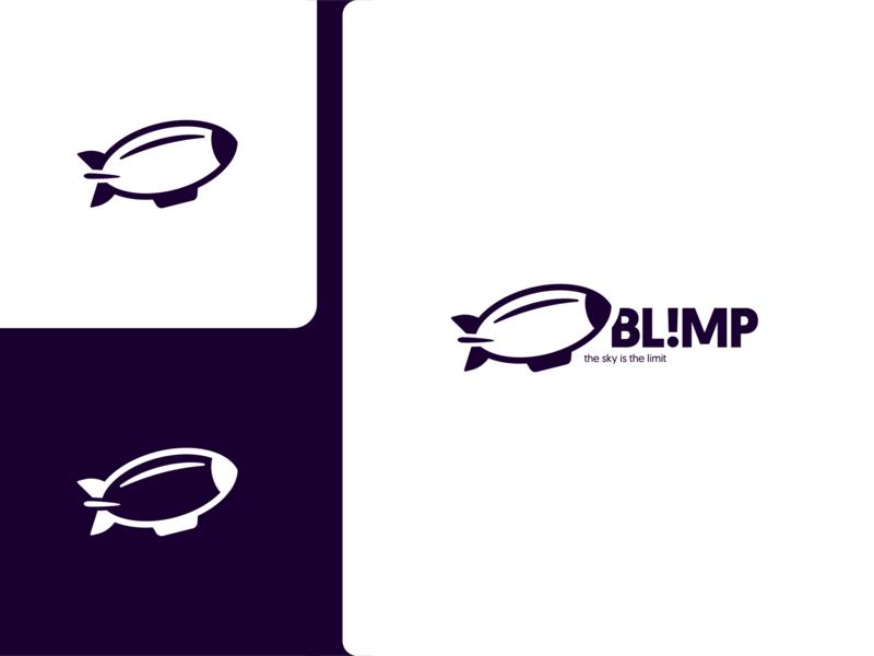 Blimp Logo Exploration design logo blimp