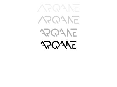 Arqane Version 4 typography branding illustration black white design logo