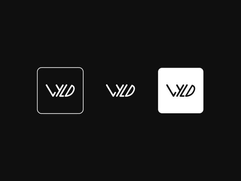 Wyld Logo. icon typography illustration branding white black design logo wyld wild