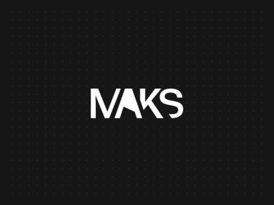 Maks - Exploration vector typography branding white black design logo