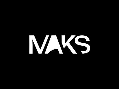 Maks Version 2 ux ui illustration vector typography branding white black design logo