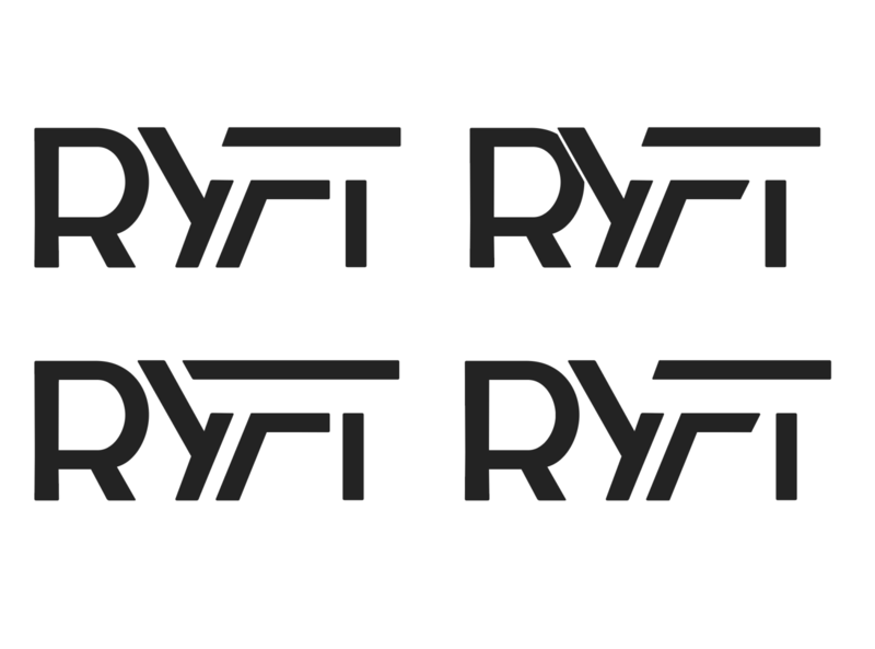 Ryft Logo Exploration Version 1 vector typography branding white black design logo