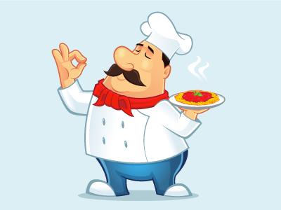 italian chef mascot by irvan ramdani dribbble dribbble