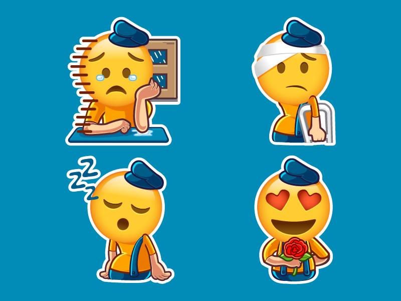 Stickers Emoji by Irvan Ramdani on Dribbble