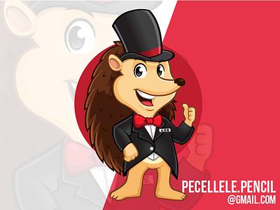 Abe Mascot animal american washington the abe vector logo character design mascot hedgehog