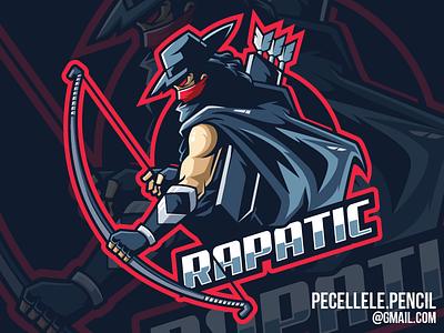 Rapatic Gaming Logo marksman vector youtuber streamer gamer gaming esports esport mascot logo bandit archer