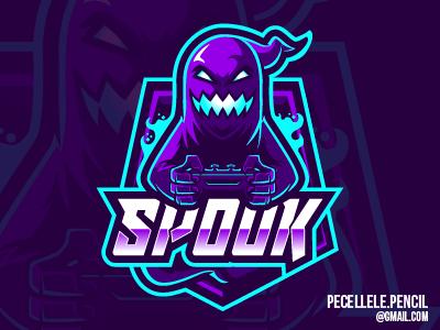 Spooky Logo twitch esports esport vector design mascot logo gamer gaming halloween spooky ghost
