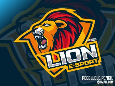 Lion Esport tiger gamer gaming design vector mascot logo esports esport animal beast lion