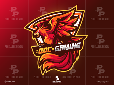 Phoenix pecellele designs design cartoon streamer dragon falcon hawk youtuber fortnite twitch vector mascot sports esports esport gamer logo gaming phoenix