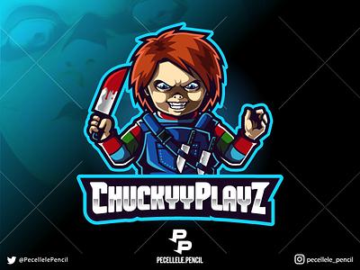 Chucky professional movie illustration designs killer murder evil horror design logo esport esoprts gaming cartoon character vector mascot halloween chucky