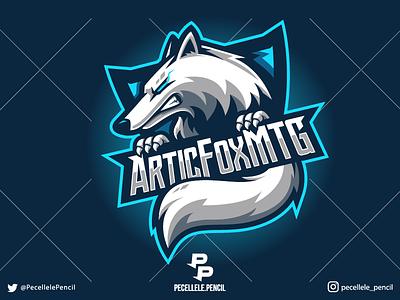 Gaming Logo cartoon youtuber rage vector badge sport esports esport streamer twitch design logo mascot gamer beast animal wolf lone fox gaming
