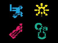 Capco Digital icons exploration - colors