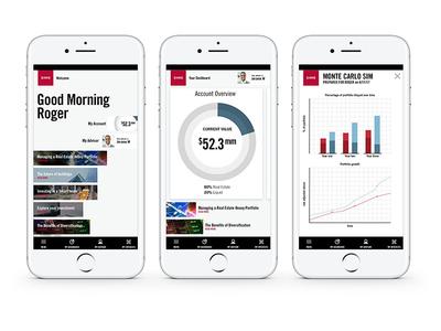 App design for HNW banking finance banking app design