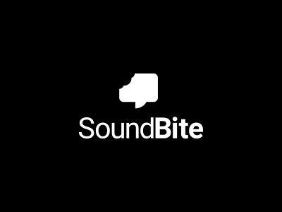 SoundBite lock up chat byte bite icon logo design