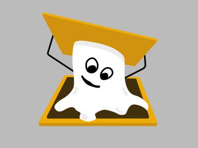 S'more Ghost illustration more graham chocolate marshmallow graham