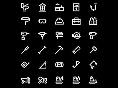 Everon icon set icons contractor green logo construction