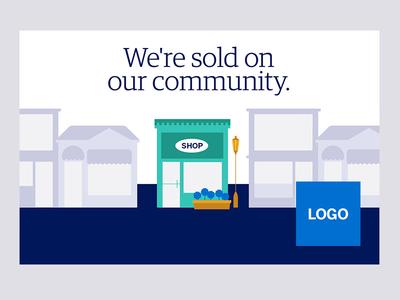 POP - We're sold on our community pop illustration design
