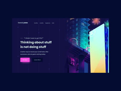 New Year Resolution is 1280 x 720 night city dribbbleweeklywarmup 2021 futuristic vibrant hero image header scifi ps5 cyberpunk neon building isometric vector illustration