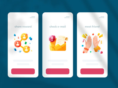 🔥 open feedback 🔥 empty state scene notification friend icons add crayon brushed high five mail email reward feedback wip fintech product design product ui vector illustration