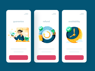 💸 withdrawal and refund pt. 1 feedback availability guarantee waiting night moon money finance fintech empty state scene undo redo cash withdrawal refund ui design vector illustration