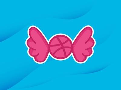 The Pink Snitch icon fly playoff sticker dribbble ball quidditch