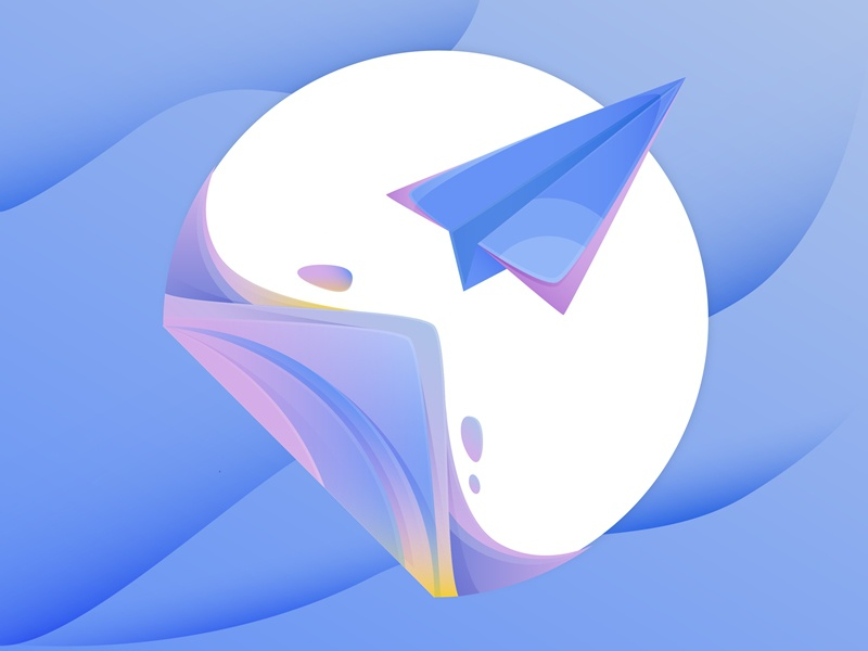 Submit Illustration deliver send apply web section submit paper plane icons illustration