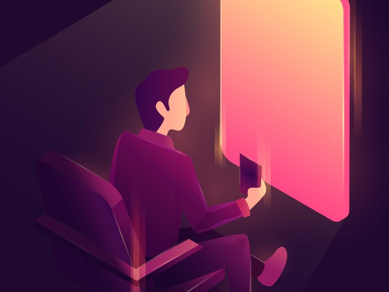 Video Call the Sunset illustration peace screen window light app phone 3d gradient vector isometric illustration