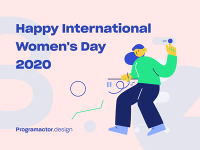 IWD cover for Programactor womens day cover ios illustrations cameroon design branding