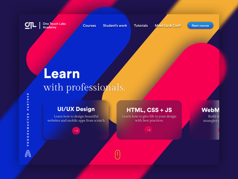 One Touch Labs Academy Home Page we design cameroon ux ui design uidesign design concep design landing design landing page website