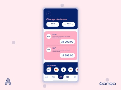 Bongo | FinTech App — Currency Exchange Screen transactions ui ux uidesign transfer onboarding mobile money ios illustrations art illustration icons design graphics finance cost cameroon budget branding app banking currency exchange