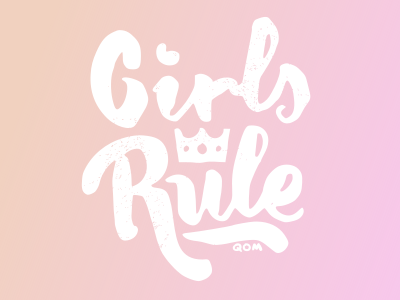 Girls Rule komorowski filip custom letters love bike girls lady ladies pink typography
