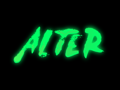 Alter space cuberpunk movie typography