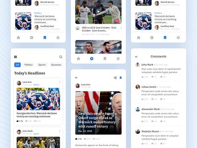 Newspaper Apps dribbble best shot mobile apps design apps design