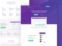 Landing Page Design for Spiky Salon Software - FREE PSD