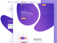 Landing page design for Finance City