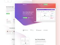 DataSequre Landing Page Design
