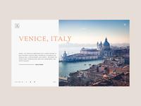 Travel website Header