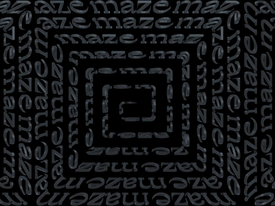 Maze. 3d maze art motiongraphics motion graphic design motion graphics typography after effects adobe motion c4d kinetictypography kinetictype cinema4d behance animation