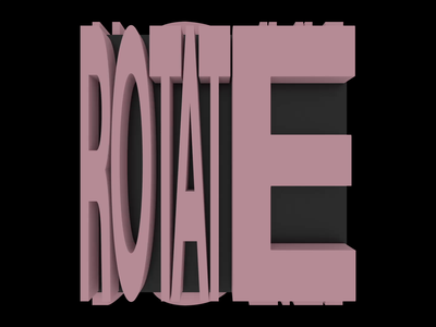 Rotate. motion design motion graphics design typography after effects adobe motion kinetictypography c4d kinetictype cinema4d behance animation