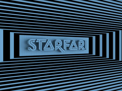 Starfari Rectangle. typography after effects adobe motion kinetictypography kinetictype cinema4d c4d behance animation