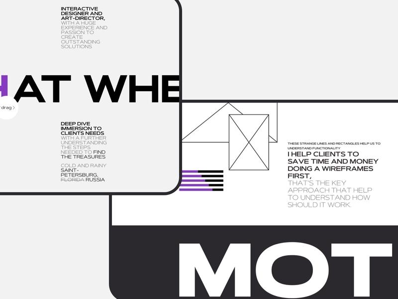ALDB Portfolio Design Concept dark portfolio minimal typography clean website web ux ui design