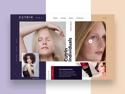 Cutrin Concept type web design website animation ux ui illustration