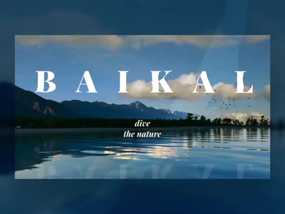 Baikal Lake typography pastel colourfull after affects website web ux ui design type animation