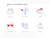 Event Illustrated Icons