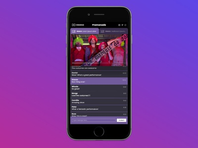Streaming Video Chat UI