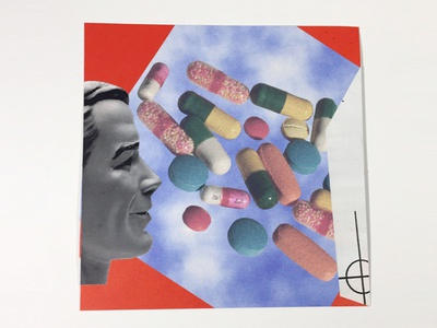 Collage; Cut paper, Xerox, Glue