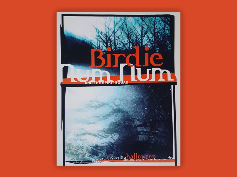 From the archives: Birdie Num Num and the Spirit Squad color typography type design poster poster art music