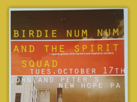 From the archives: Birdie Num Num and the Spirit Squad
