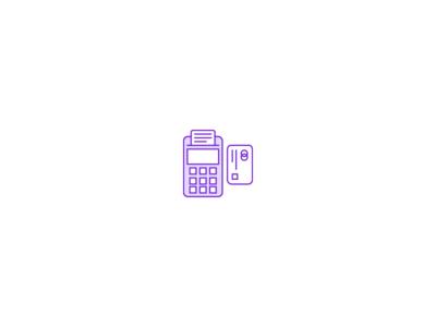 Debit or Credit? vector ui branding retial finance lineart purple retail icons